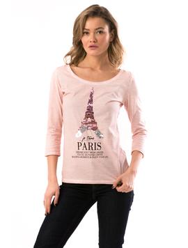 Bluza Dama EiffelParis Roz