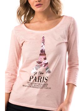 Bluza Dama EiffelParis Roz-2