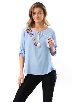 Bluza Dama ButterflyFlower Bleu