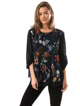 Bluza Dama VeilFlowerPrint Bleumarin