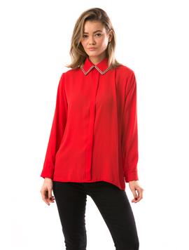 Bluza Dama CristalCollar Rosu