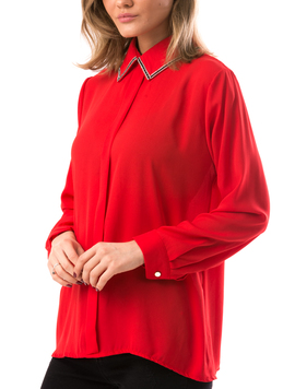 Bluza Dama CristalCollar Rosu-2