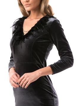 Rochie Dama VelvetFeather Gri-2