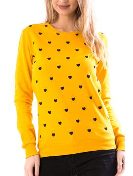 Bluza Dama Hearts67 Mustar-2