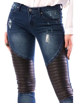 Jeans Dama MidleTh765 Bleumarin-2