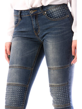 Jeans Dama MiddHg129 Bleumarin-2