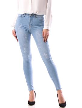Jeans Dama Ljy67 Bleu