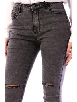 Jeans Dama Ghjy690 Gri-2