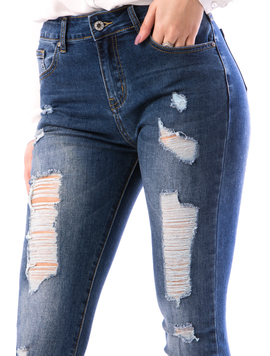Jeans Dama KhBrem78 Bleumarin-2
