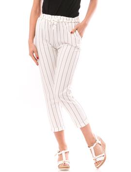 Pantaloni Dama SummerHero Alb Si Negru