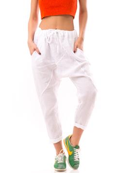 Pantaloni Dama LinenFresh Alb