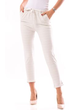 Pantaloni dama FreshOn Alb Albastru
