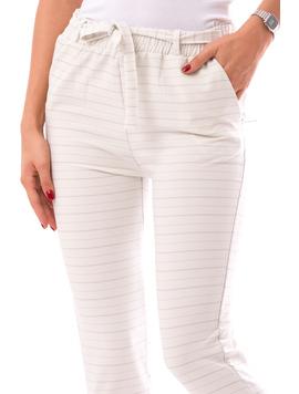 Pantaloni dama FreshOn Alb Albastru-2