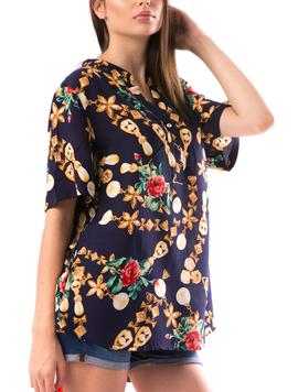 Bluza Dama HalfWay Bleumarin-2