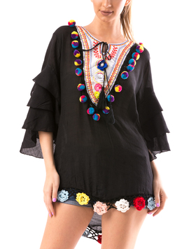 Bluza Dama BrodyMeaw50 Negru-2