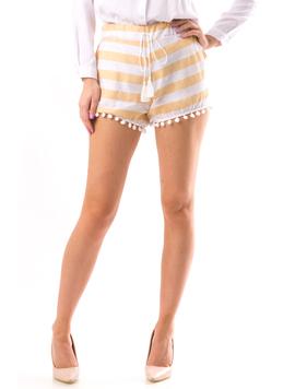 Pantaloni Scurti Dama Cycs12 Alb