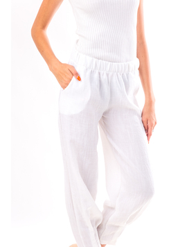 Pantaloni Dama Sym34 Alb-2