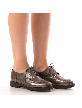 Pantofi Dama OxfordOne Gri Dep
