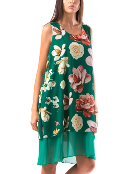Rochie Dama RowyFLowersBrew Verde-2