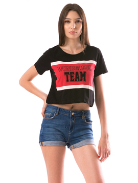 Tricou Dama WonderfulTeam Negru