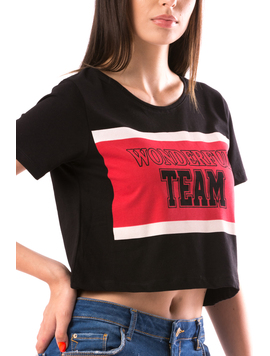 Tricou Dama WonderfulTeam Negru-2