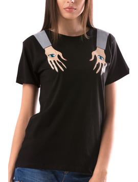 Tricou Dama TwoHands Negru-2