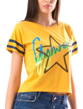 Tricou Dama StarStar Mustar-2