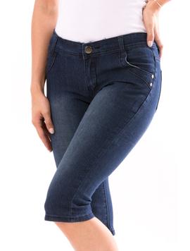 Jeans Trei Sferturi Dama HelloFriday Bleumarin-2