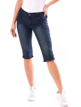 Jeans Trei Sferturi Dama HelloFriday Bleumarin