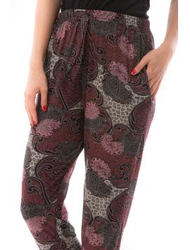 Pantaloni Dama EuroGirl Bordo Alb si Negru-2