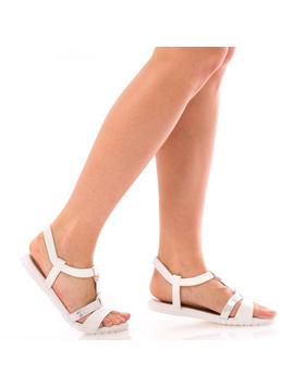 Sandale Dama SummerDely Alb Si Argintiu Dep