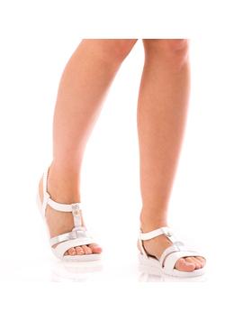 Sandale Dama SummerDely Alb Si Argintiu Dep-2