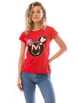 Tricou Dama MikeySmile Rosu-2