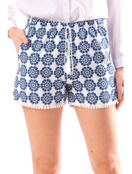 Pantaloni Scurti Dama LaceWearOne Albastru-2