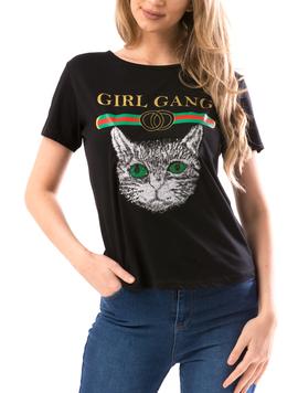 Tricou Dama GirlGang Negru-2