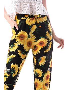 Pantaloni Dama Bumbac Ylos E Negru