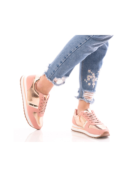 Adidasi Dama SmartWalk Roz Auriu si Argintiu-2