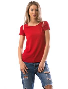 Bluza Dama ShoulderStripe Rosu