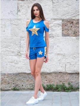 Compleu Dama Doua Piese StarGold Albastru