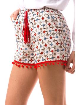 Pantaloni Scurti Dama LaceWearTwo Alb-2