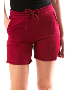 Pantaloni Scurti Dama SimpleWear Bordo-2