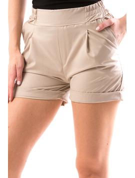 Pantaloni Scurti Dama DownBack Bej-2