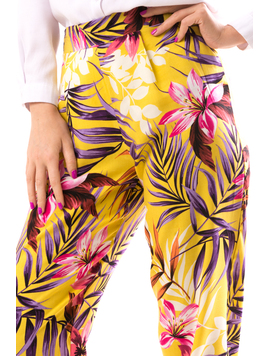 Pantaloni Dama AnionaOne Galben-2