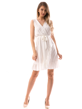 Rochie Dama MiddleTied Alb