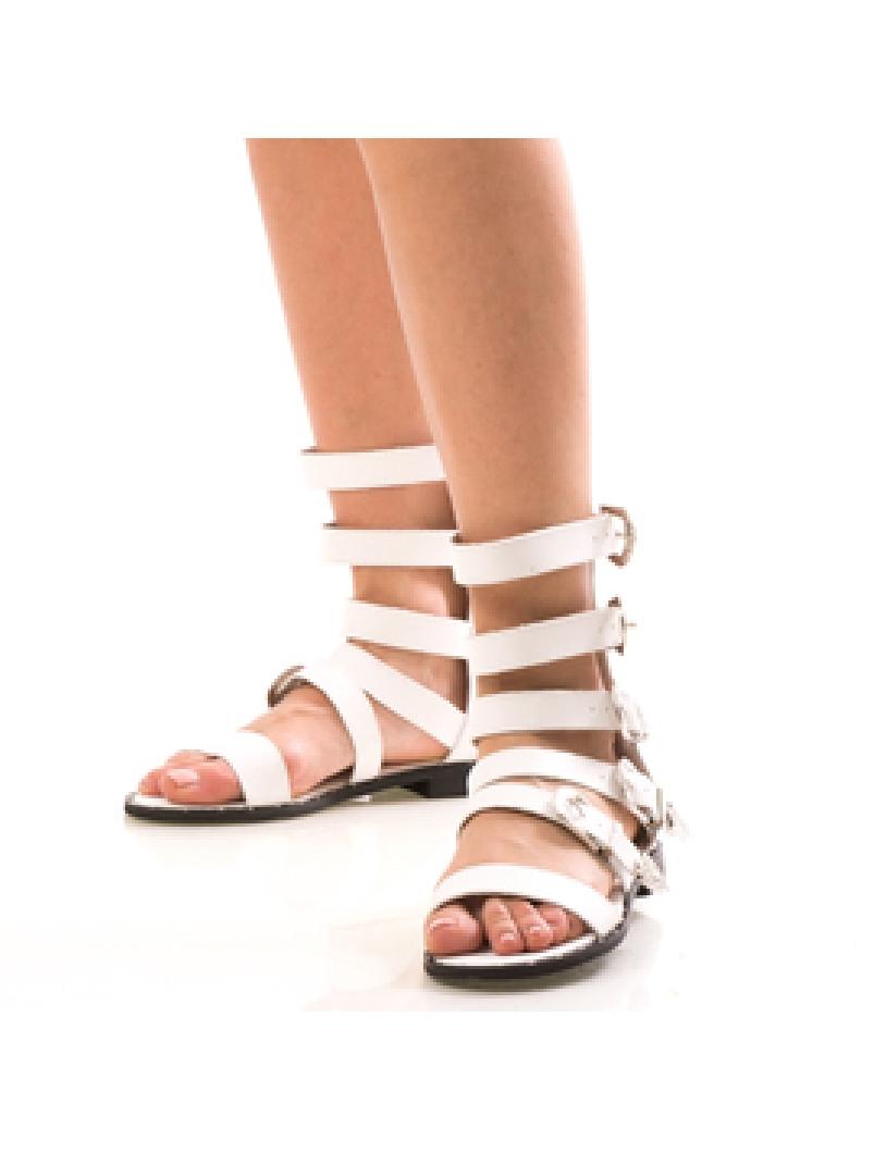 Sandale Dama GladiatorWen Alb Dep-2