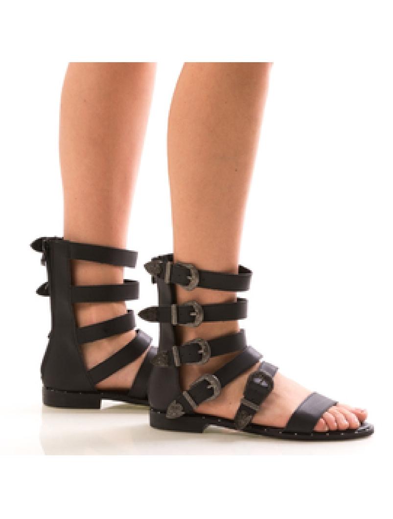 Sandale Dama GladiatorWen Negru-2