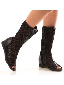 Sandale Dama LionBlack Negru-2