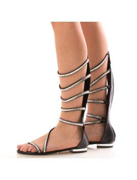 Sandale Dama LongChampaqne Negru Dep-2