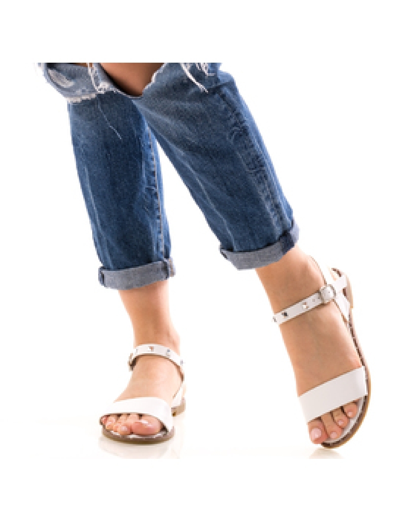 Sandale Dama PeackyTwo Alb-2