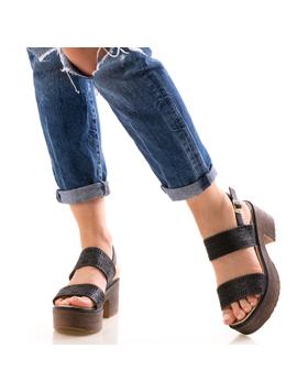 Sandale Dama UppyNew Negru-2